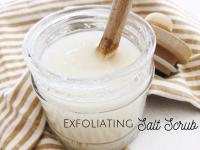 Homemade DIY Exfoliating Salt Scrub....