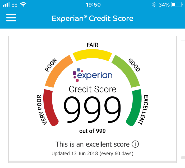 Experian credit score