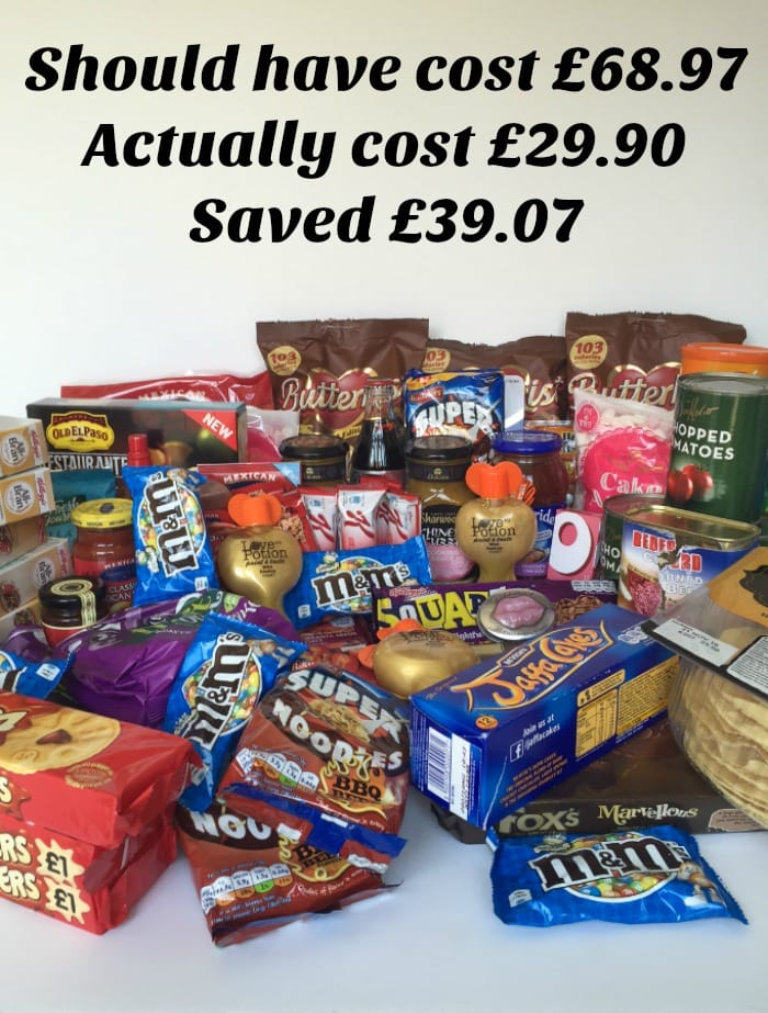 FInd out why this week's shopping should have cost £68.97 but only cost £29.90.  No coupons, no shopping around, no hassle.