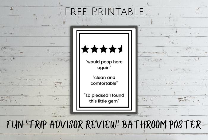 FUN 'Trip Advisor review' bathroom poster