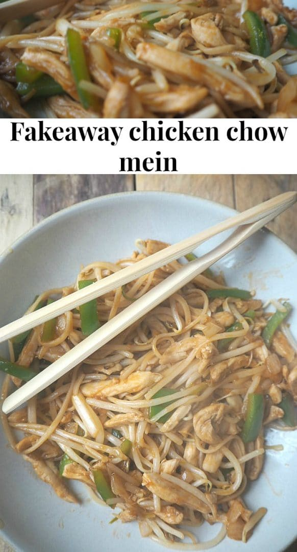 Amazing Fakeaway Chicken chow mein - cheaper, healthier and tastier! #fakeaway #1syn #slimmingworld #mealplanning #familymeal