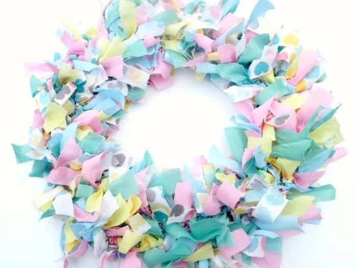 homemade rag wreath