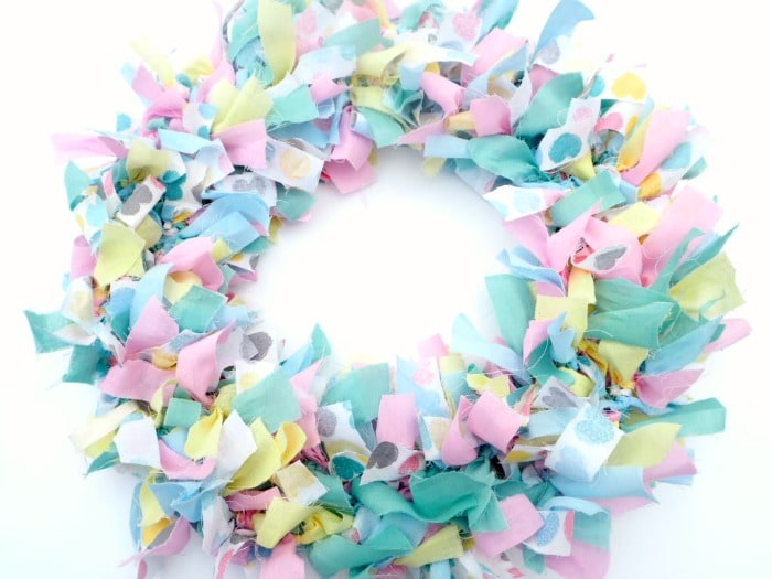 homemade rag wreath