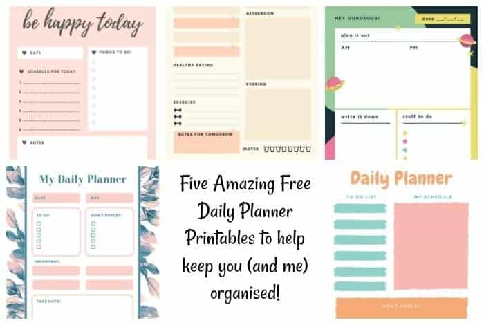photograph regarding Daily Planner Printable named 5 Remarkable Totally free Each day Planner Printables. The Diary