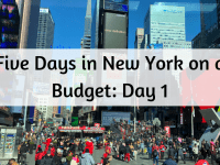 Five Days in New York on a budget - Day 1....