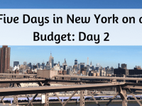 Five Days in New York on a budget - Day 2....