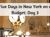 Five Days in New York on a budget - Day 3....