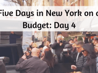 Five Days in New York on a budget - Day 4....