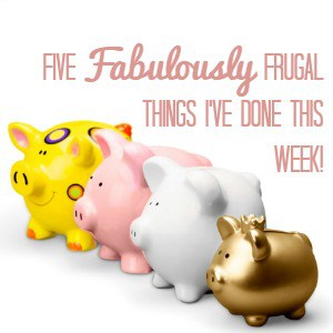 Five Fabulously Frugal Things I've DOne This Week!