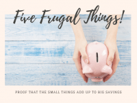 Five Frugal Things we did this week {4 October 2019}....