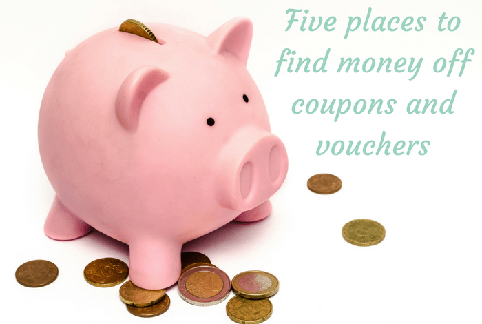 Five places to find money off coupons and vouchers....
