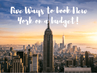 Book a trip New York on a budget....