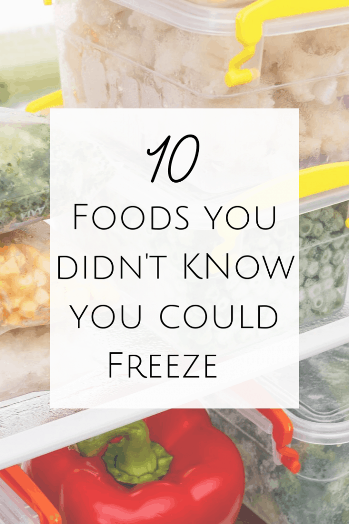 Foods you didn't know you could freeze! #mealprep #mealplanning #mealplan #batchcooking #leftovers #familymeals