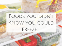 10 Foods you didn't know you could freeze....