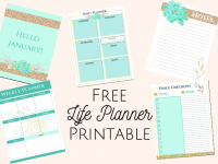 Get Organised with a Life Planner.... {Free Planner Printable}