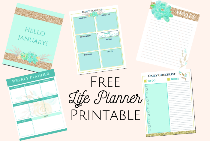 Free Planner Printable - Amazing Free Life Planner Printable!