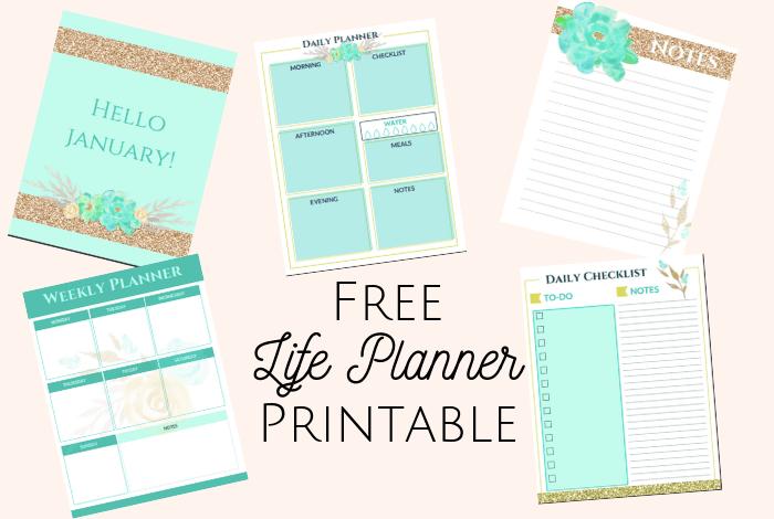 Free Planner Printable - Amazing Free Life Planner Printable!