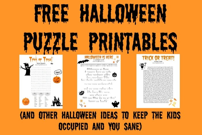 Free Halloween Puzzle Printables (And other Halloween ideas to keep the kids occupied and you sane)