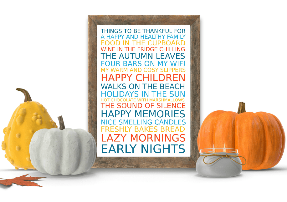 Free Poster Maker - Reasons to be thankful