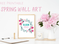 Free Printable Spring Wall Art....