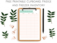 Cupboard, Fridge and Freezer Inventory {Free Printable}....