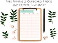 Cupboard, Fridge and Freezer Inventory {Free Printable}....