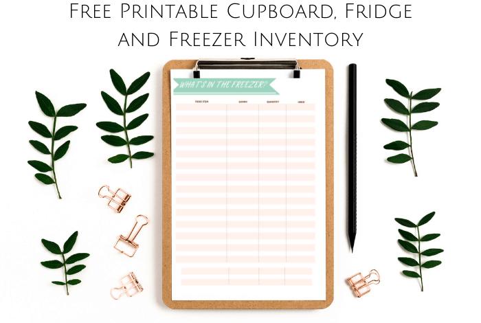 Free Printable Cupboard, Fridge and Freezer List