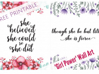 Free Printable Girl Power Wall Art....