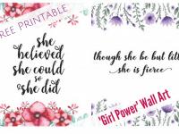 Free Printable Girl Power Wall Art....