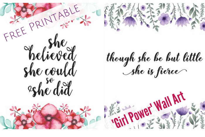 picture relating to Free Printable Wall Art identify Totally free Printable Female Ability Wall Artwork. The Diary of a