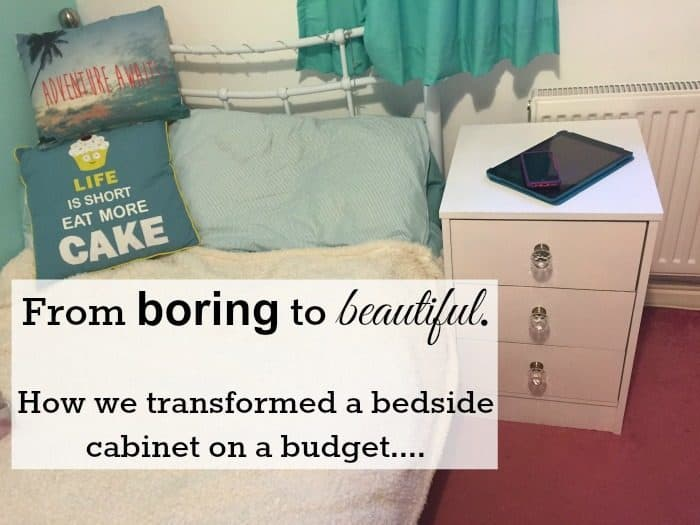 From boring to beautiful - how we transformed a bedside cabinet on a budget....