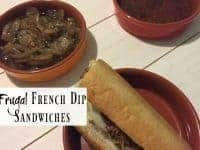 Frugal French Dip Sandwiches....