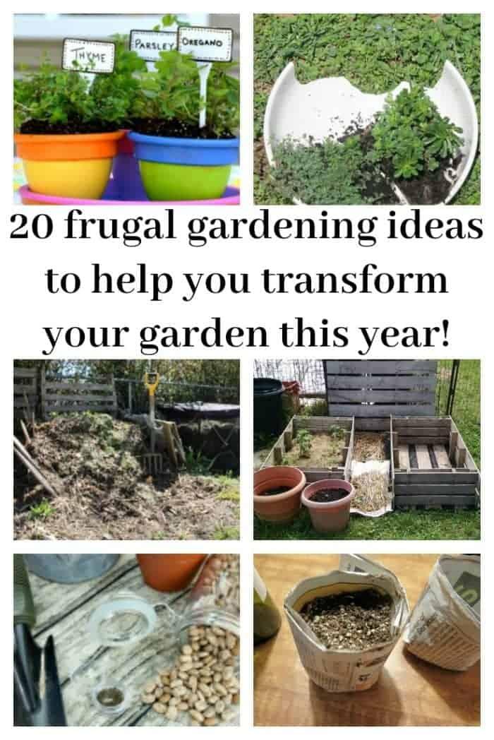 20 frugal gardening ideas to help you transform your garden this year!