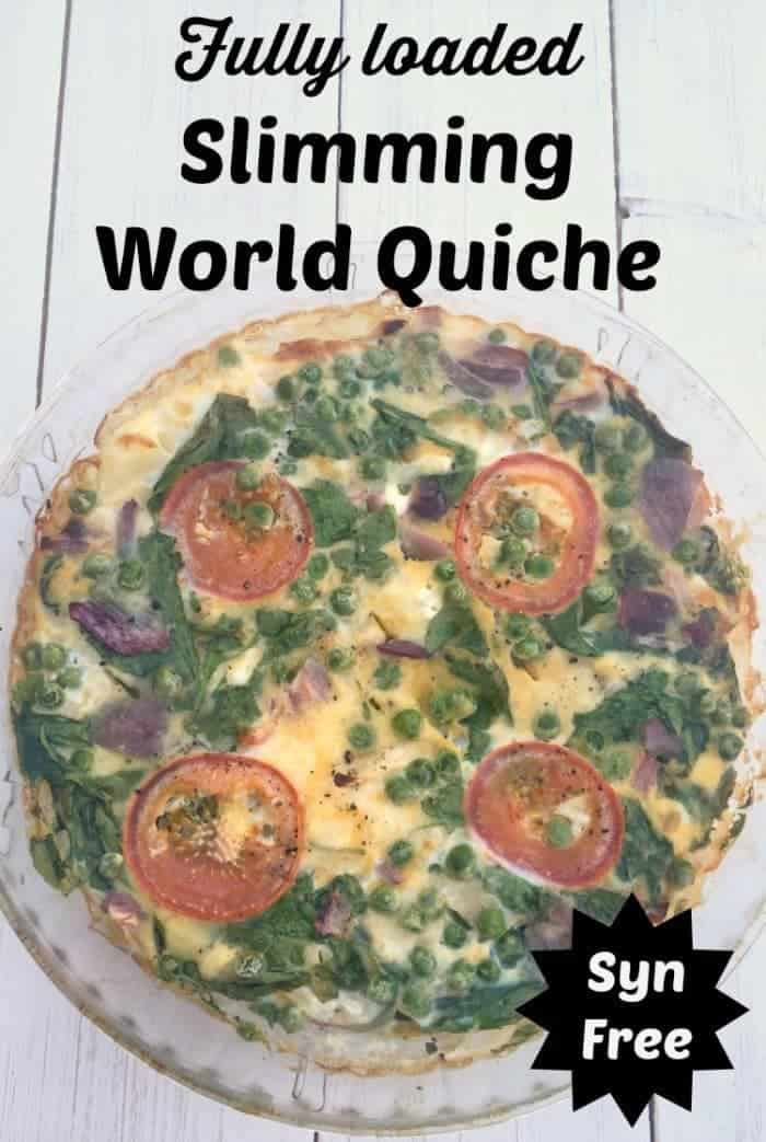 Fully loaded Slimming World Quiche - Syn Free, tasty and super easy to make!