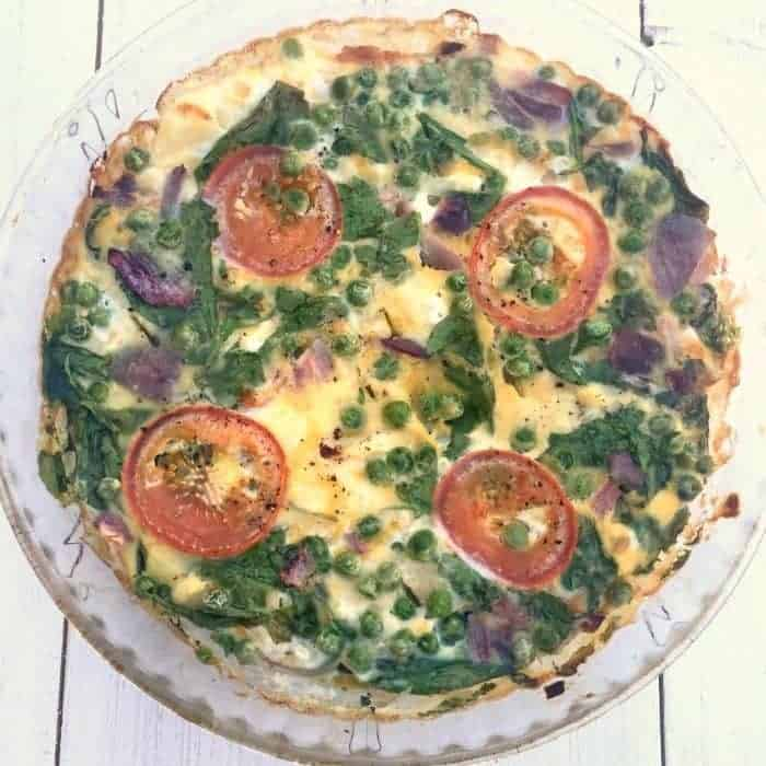 Fully loaded slimming world quiche