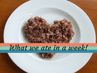 What we ate in a week {May 2018}....