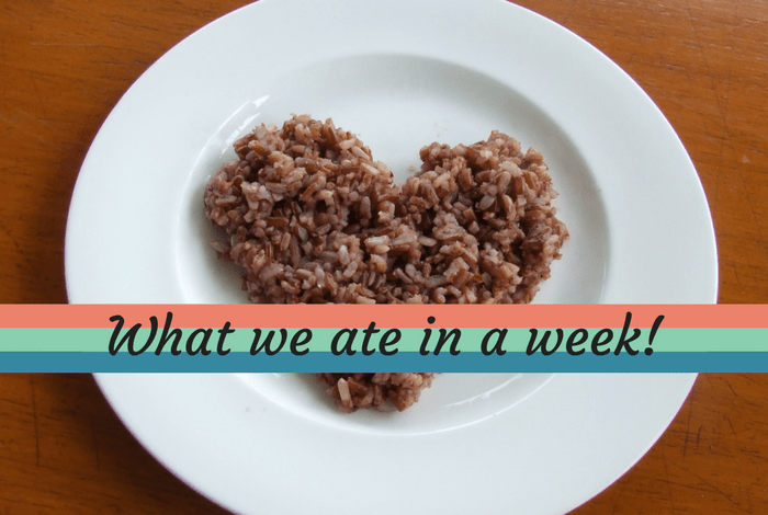 What we ate in a week - May