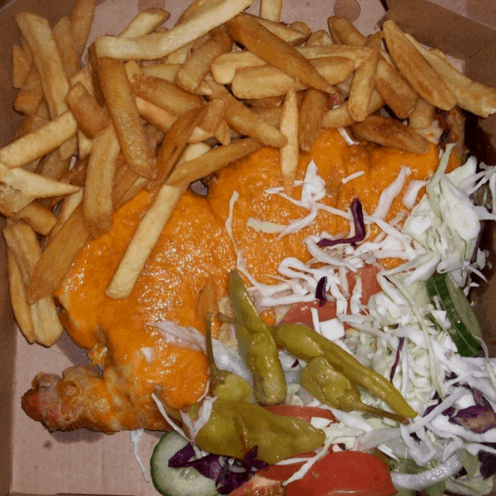 Greasy CHicken Parmo