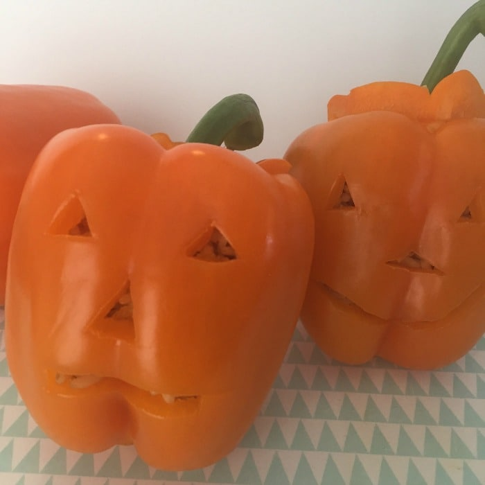 Halloween pumpkin peppers