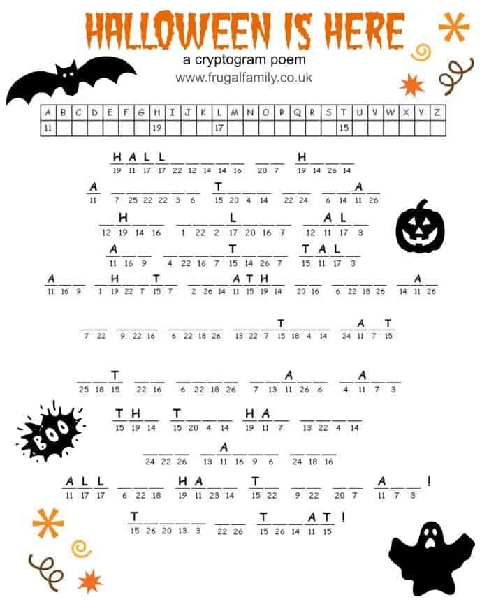 Halloween Cryptogram