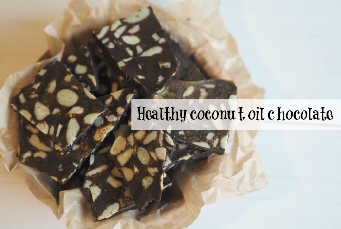 Healthy Coconut oil chocolate....