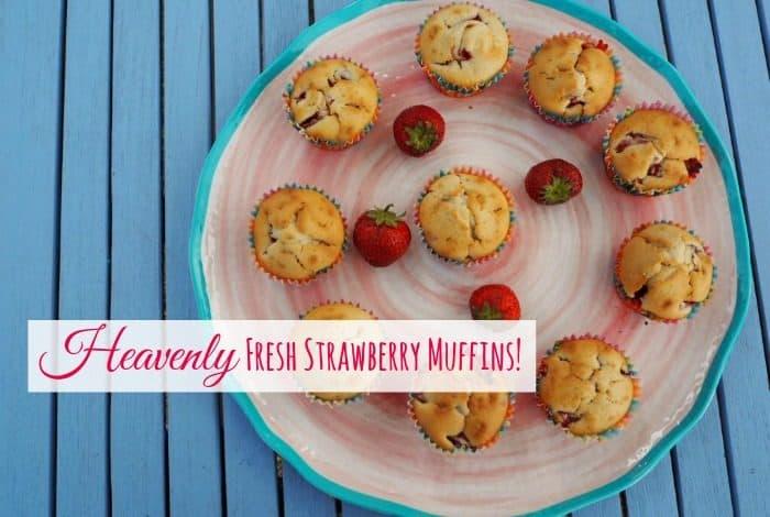 Heavenly Fresh Strawberry Muffins....
