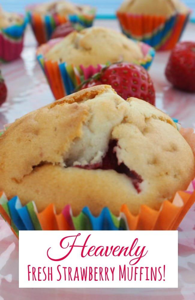 Heavenly Fresh Strawberry Muffins!