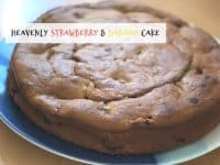 Heavenly Strawberry and Banana Cake...