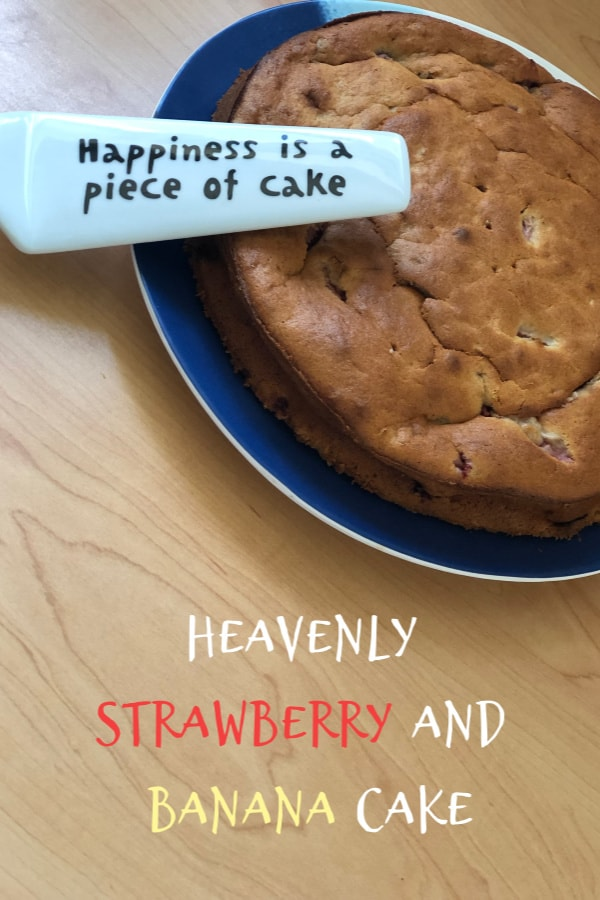 Heavenly strawberry and banana cake! An amazing way to use up bananas!