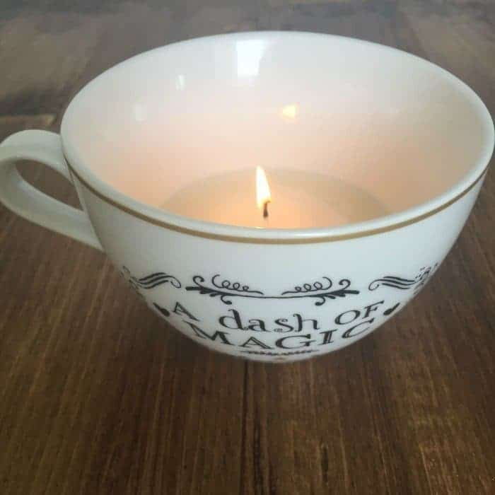Homeamde Teacup candle using tea lights