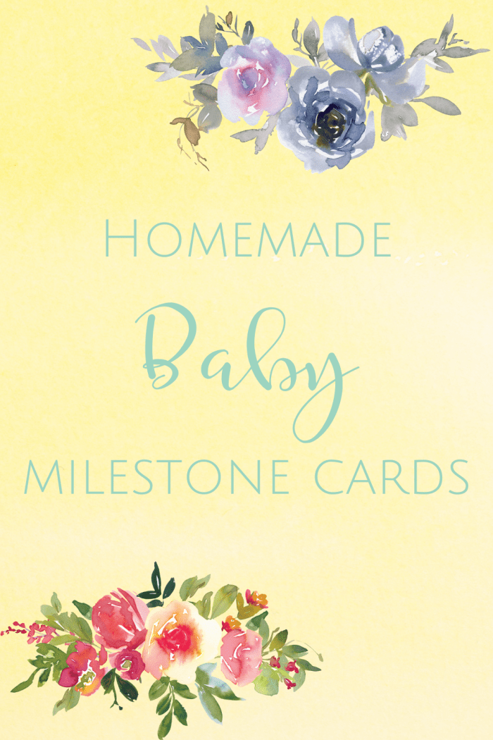 homemade baby milestone cards