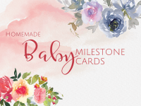 Homemade Baby Milestone Cards
