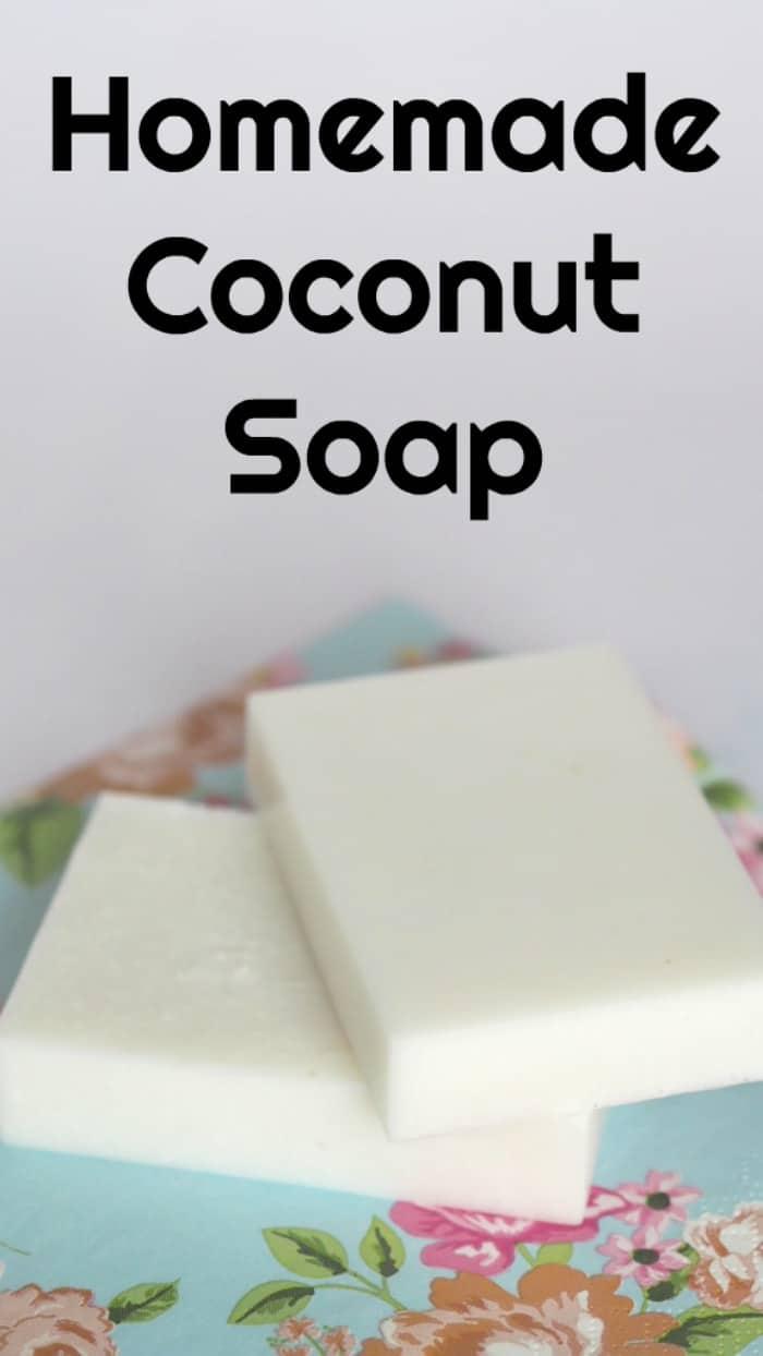 Homemade coconut soap