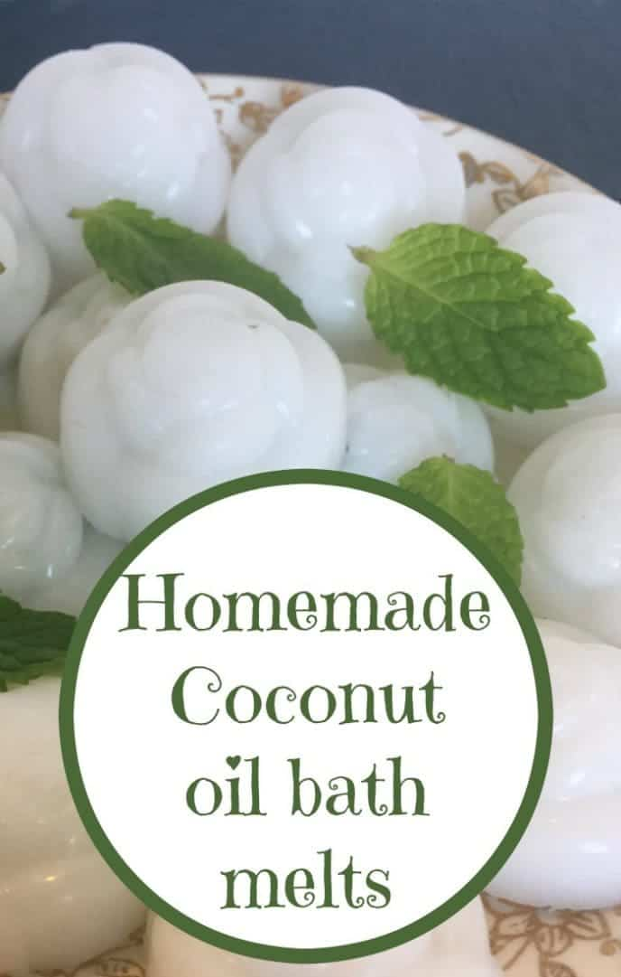 Homemade Coconut oil bath melts....